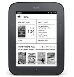 Barnes & Noble Nook Simple Touch E-Reader with E Ink Display, Wi-Fi, & Access to Over 3 Million Books