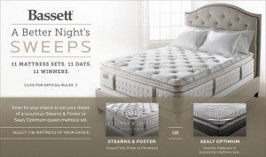 Bassett Furniture - A Better Night's Sweepstakes