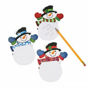FREE Snowman Note Pads