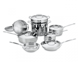 Cuisinart Classic Stainless Cookware 14-Piece Set AS LOW AS $21.00 INCLUDES SHIPPING!!
