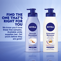 Free Nivea Extended Moisture or Smooth Sensation Lotions Samples
