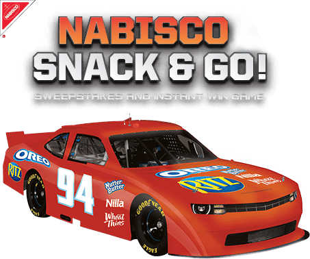 Nabisco Snack & Go! NASCAR Sweepstakes and Instant Win Game