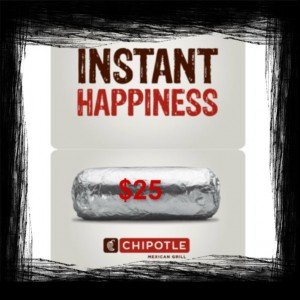 FREE - $25 Chipotle Gift Card