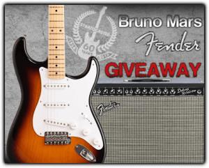 Fender Guitar Bruno Mars #Giveaway