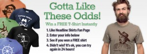 Headline T-Shirt Instant Win Game