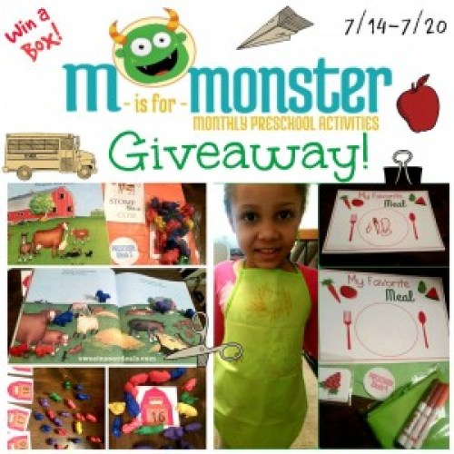 M is For Monster Educational Learning Box Giveaway