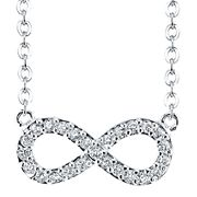 Pure Silver-Plated Crystal Infinity Pendant Sweepstakes