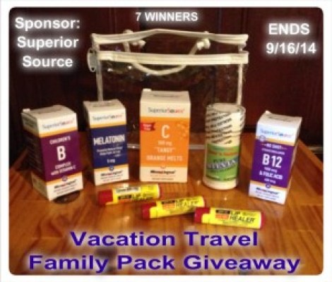 Superior Source Vacation Travel Family Pack Giveaway