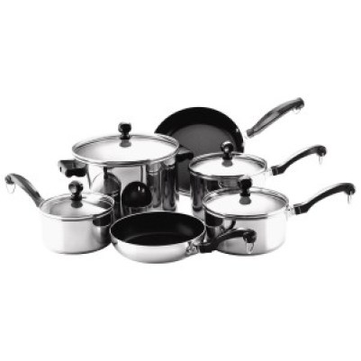 Farberware Classic Stainless Steel 10-Piece Cookware Set ONLY $49.99