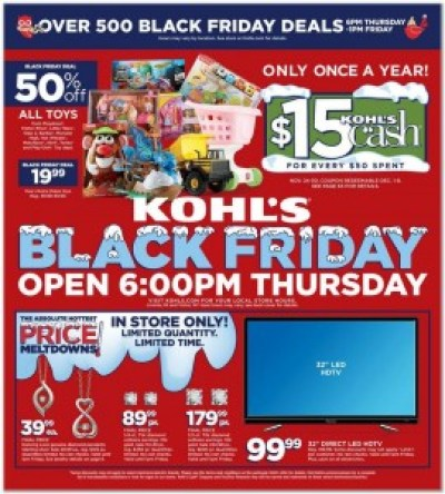 Kohl's #BlackFriday Ad