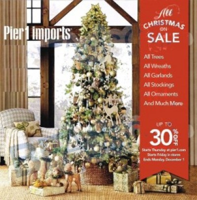 Pier 1 imports #BlackFriday Ad