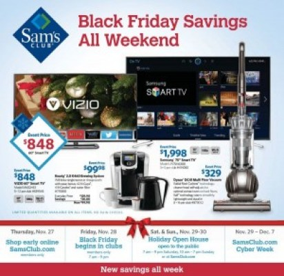 Sam's Club #BlackFriday Ad