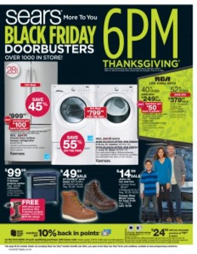 Sears #BlackFriday Ad