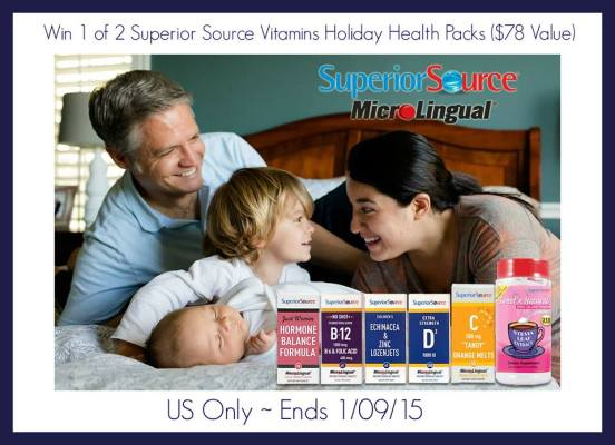 Superior Source Vitamins Holiday Health Pack Giveaway