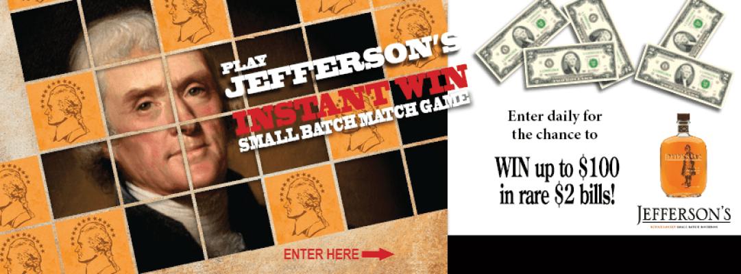Jefferson's Small Batch Match Game