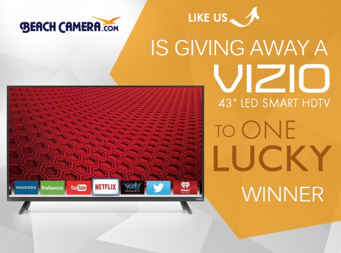 Enter for a Chance to win a 43 Vizio LED Smart HDTV