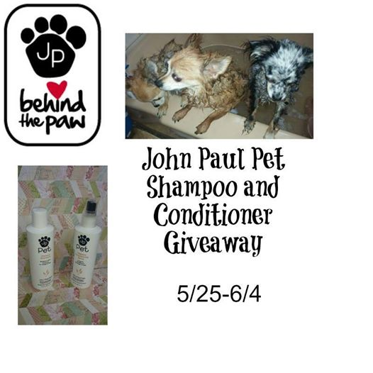 John Paul Dog Shampoo and Conditioning Spray Giveaway