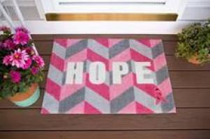 Breast Cancer Awareness Support Welcome Mat Giveaway