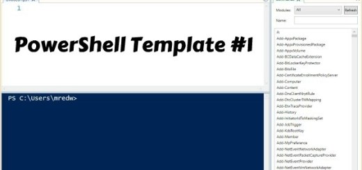 Powershell ISE Template 1