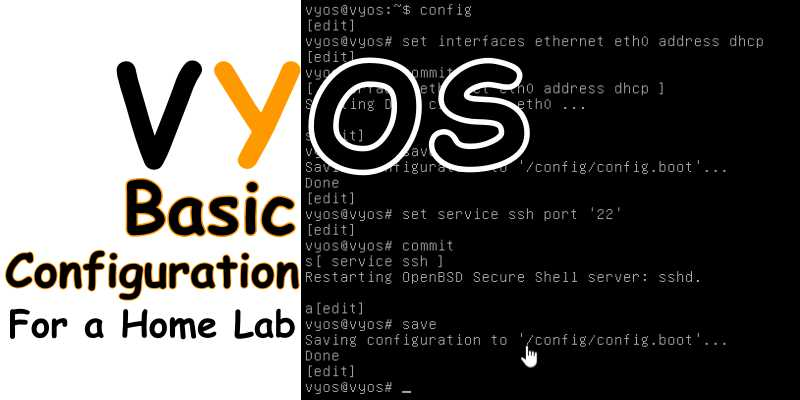VyOS Basic COnfiguration for a Home Lab