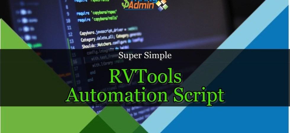 RVTools Automation