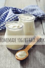 homemade yogurt hair mask
