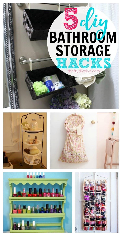 5 Cheap DIY Bathroom Storage Ideas