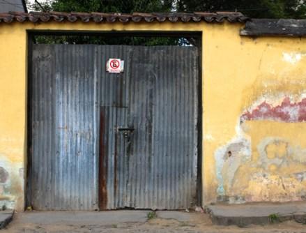 Garage door Antigua, Guatemala