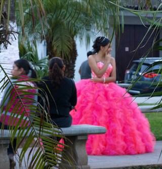 Girl in pink dress Antigua Guatemala
