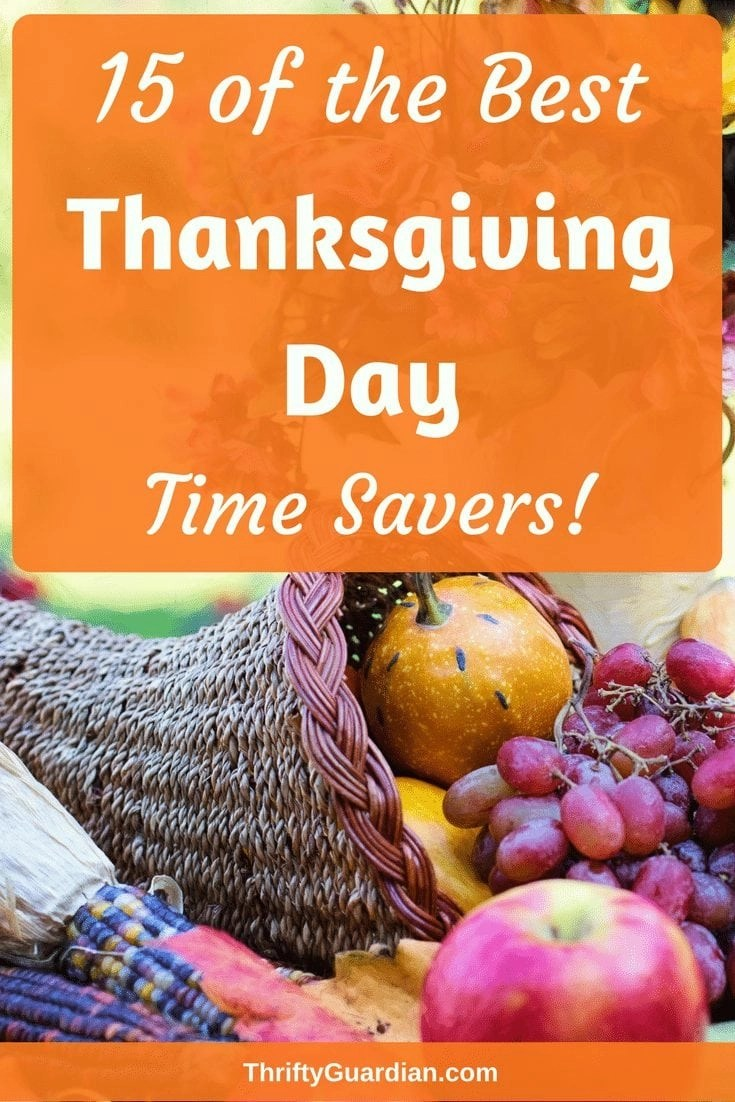 Thanksgiving is a time for family so save yourself time and stress with these quick tips on cooking faster and being less stressed during the holidays! Click through for 15 Thanksgiving Day ideas! #Thanksgiving #LifeHacks #SaveTime #CookFaster