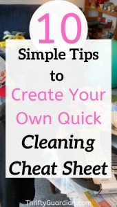 cleaning cheat sheet