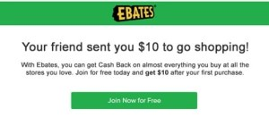 Make money online with Ebates