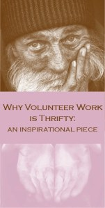 Why Volunteer Work is Thrifty