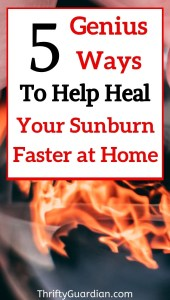 heal sunburn faster