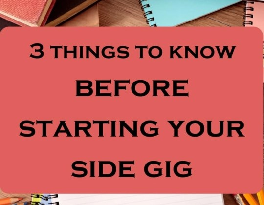 Tips on starting your side gig or work from home idea