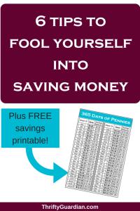 Savings Tracker, save pennies a day checklist