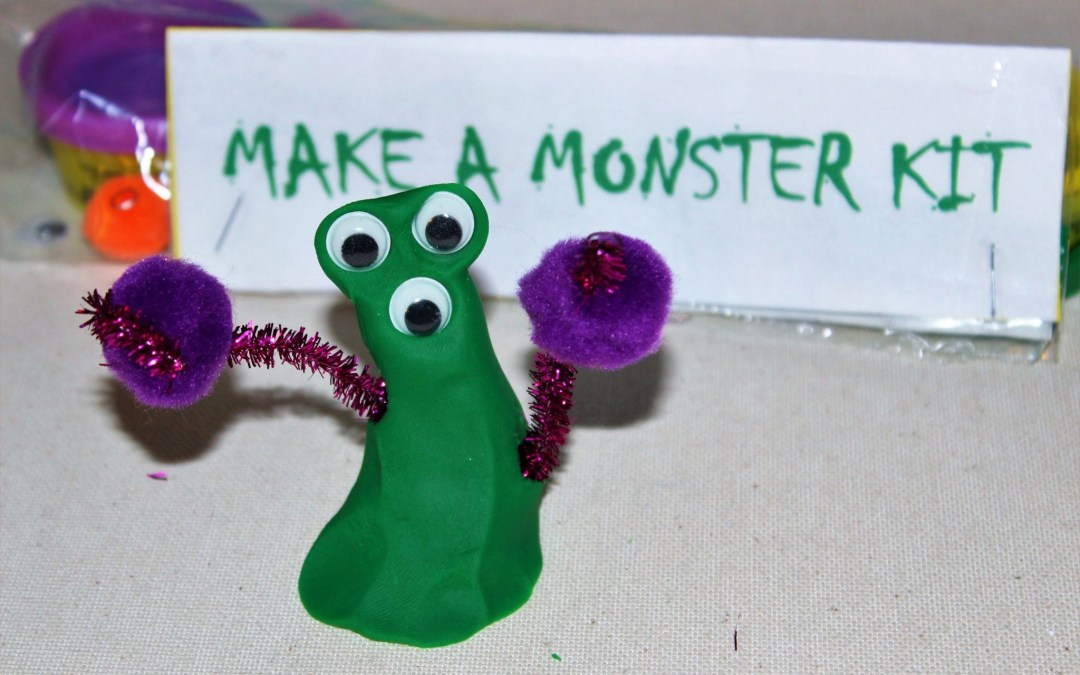 Play Dough Monster Kit: A Candy Free Trick-or-Treat Idea