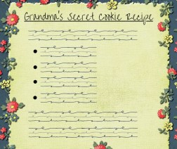 pretend recipe card for thanksgiving day time saver