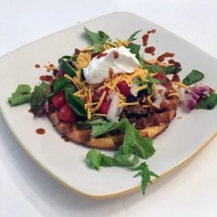 no oven meal idea cornbread waffle