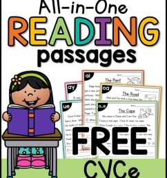 Free CVCe Reading Passages Worksheets - Thrifty Homeschoolers [ 1024 x 791 Pixel ]