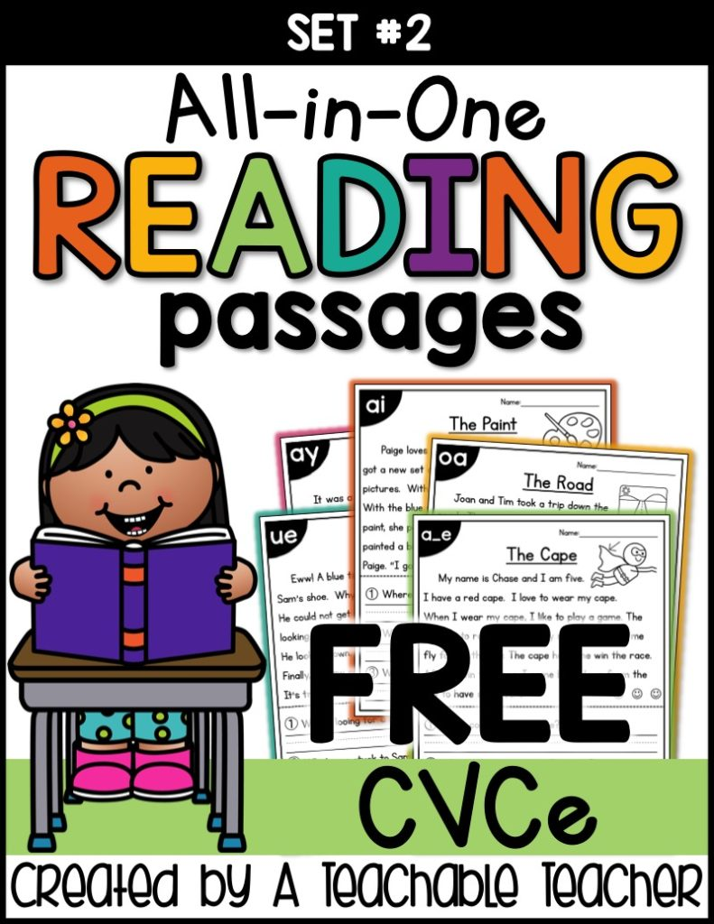 hight resolution of Free CVCe Reading Passages Worksheets - Thrifty Homeschoolers