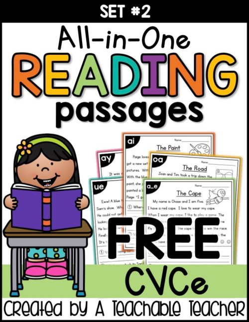 small resolution of Free CVCe Reading Passages Worksheets - Thrifty Homeschoolers