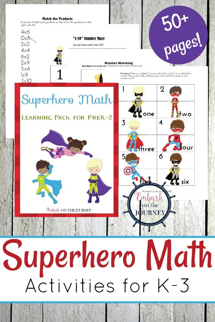 medium resolution of Free Superhero Math Games \u0026 Activities - Thrifty Homeschoolers