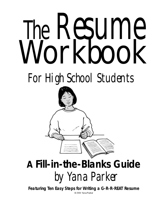 Free Workbook to Help Teens Build a Resume