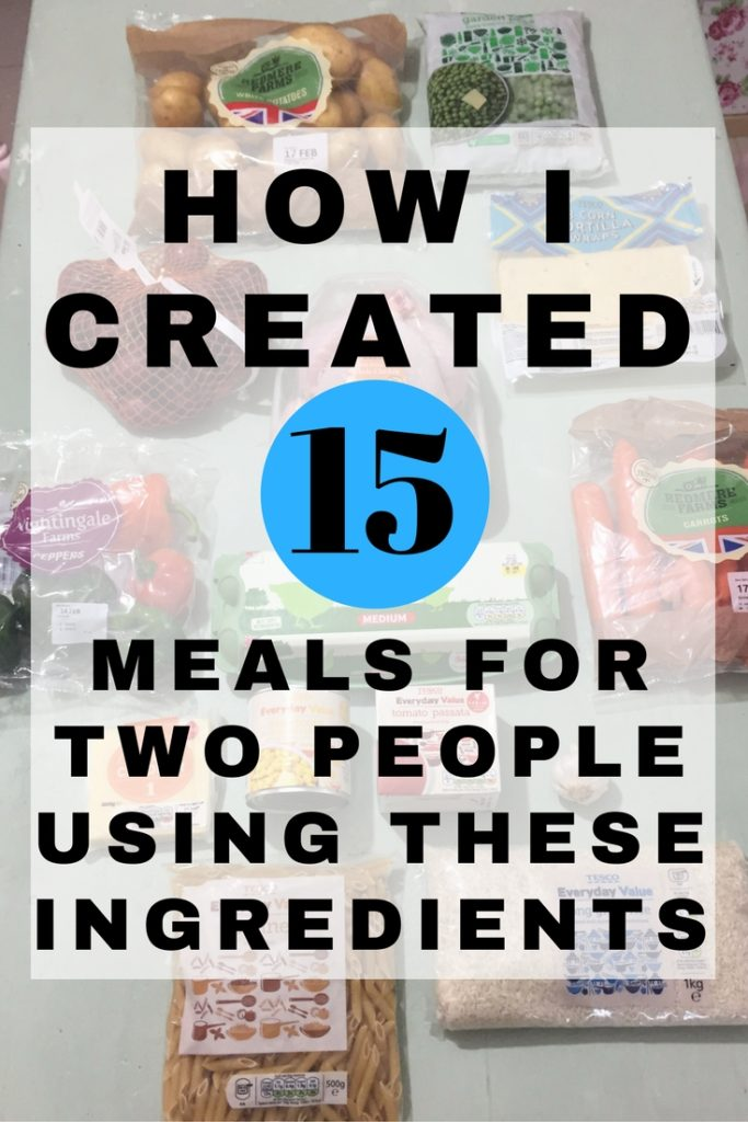 How I creased 15 meals for two people using these ingredients