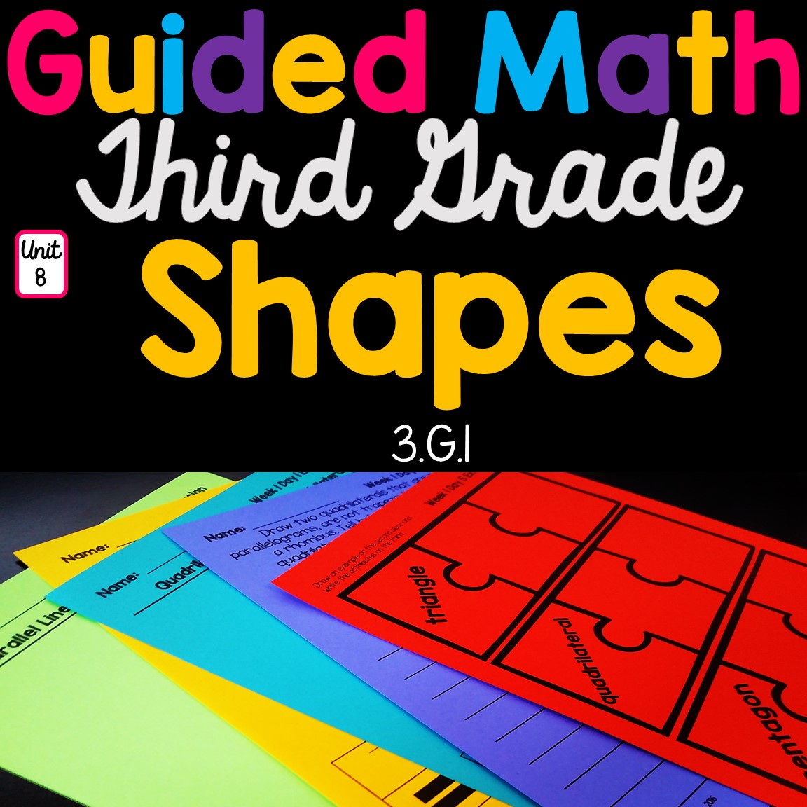 3rd Grade Guided Math Unit 8 Shapes Amp Attributes