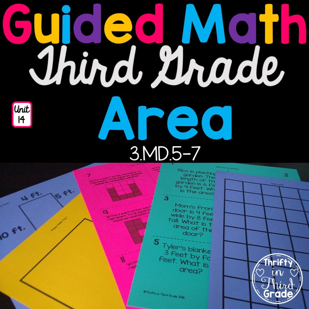 medium resolution of 3rd Grade Guided Math -Unit 14 Area - Thrifty in Third Grade