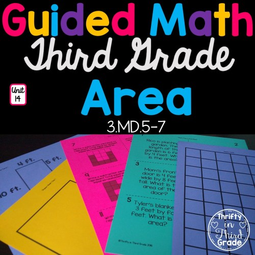 small resolution of 3rd Grade Guided Math -Unit 14 Area - Thrifty in Third Grade