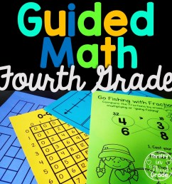 4th Grade Guided Math -Year Long Bundle - Thrifty in Third Grade [ 1152 x 1152 Pixel ]