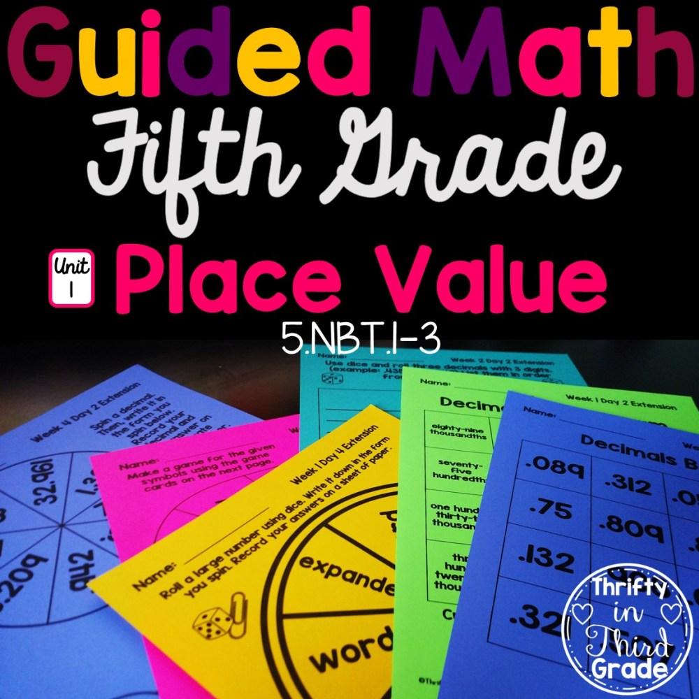 medium resolution of 5th Grade Guided Math -Unit 1 Place Value - Thrifty in Third Grade